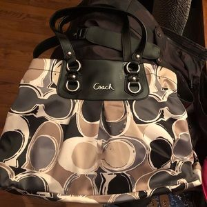 Coach silk scarf bag. Excellent condition.